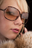 Girl In Glasses Stock Photos