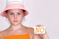 Free Girl In Hat And With Information In Hand Royalty Free Stock Photo - 1078945