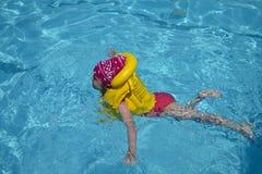 Girl In Pool Stock Photo