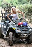Girl In Quad Stock Photo