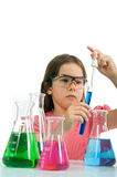 Girl In Science Class Royalty Free Stock Image