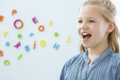 Free Girl In Speech Therapy Office Royalty Free Stock Photos - 96330988