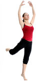 Girl In Sportswear Doing Sport Exercises Royalty Free Stock Photos