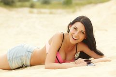 Free Girl In Swimwear On A Beach Stock Image - 101747451