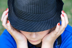 Girl In The Hat Royalty Free Stock Images