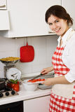 Girl In The Kitchen Royalty Free Stock Image