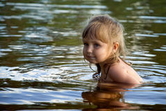Girl In The Water Stock Image