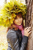 Girl In Wreaths Stock Image