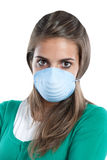 Girl infected with influenza A Stock Images