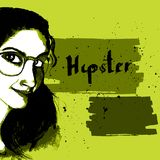 Girl ink hipster Stock Images