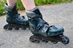 Girl with inline skates Royalty Free Stock Images
