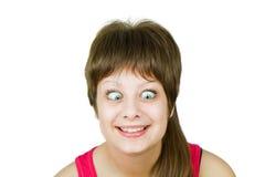 Girl with insane eyes Royalty Free Stock Photo