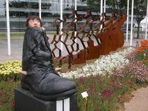 Girl inside boot Stock Images