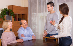 Girl introducing boyfriend to parents