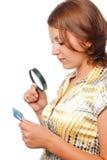 Girl investigates Stock Image