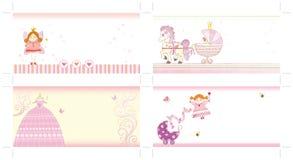 Girl invitation set Stock Images