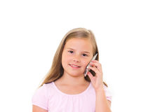 Girl with iPhone. Royalty Free Stock Photo