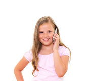 Girl with iPhone. Stock Photos