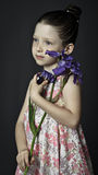 Girl with a iris Royalty Free Stock Images