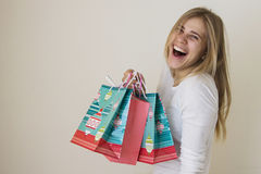 Girl Is Happy About Her Sales Purchase 6 Royalty Free Stock Image