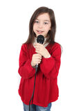 Girl Is Singing Royalty Free Stock Photo