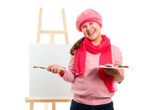 Girl Is Young Artist Royalty Free Stock Photography