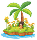 Girl on an island Royalty Free Stock Image