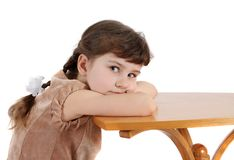 Girl, isolated. Royalty Free Stock Images