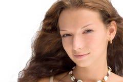 girl isolated white Στοκ εικόνες με δικαίωμα ελεύθερης χρήσης