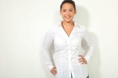 Girl isolated on white background Stock Photos