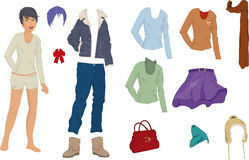 The girl and its clothes Royalty Free Stock Images