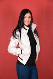 Girl at jacket Stock Photography