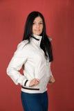 Girl at jacket Royalty Free Stock Photography