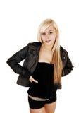 Girl in jacket. Stock Photos