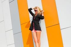 Girl in jacket Stock Image
