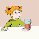 Girl with jam Stock Images