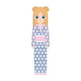 girl japanese doll traditional dress Stock Images