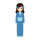 girl japanese doll traditional dress Stock Photography