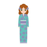 girl japanese doll traditional dress Royalty Free Stock Photos