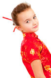 Girl in the Japanese style Royalty Free Stock Photography