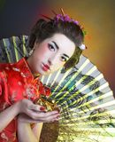 Girl in japanese style Stock Images