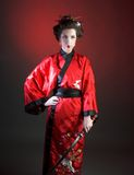 Girl in japanise style Royalty Free Stock Image