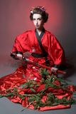 Girl in japanise style Royalty Free Stock Photos