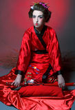 Girl in japanise style Royalty Free Stock Photography