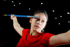 Girl Javelin thrower Stock Photography
