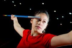 Girl Javelin thrower Stock Photography