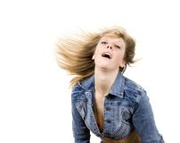 Girl in jean outfit Stock Photography