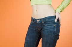 Girl jeans Stock Photo