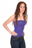 Girl in jeans. Royalty Free Stock Photography