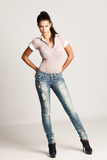 Girl in jeans Royalty Free Stock Image
